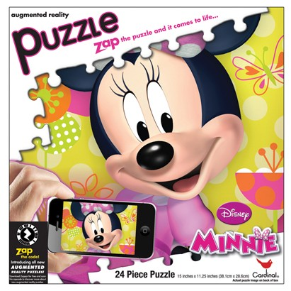 Augmented Reality - Minnie Mouse Cartoons 3D Puzzle