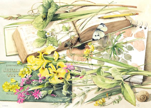 Bastin, Journal Garden Jigsaw Puzzle