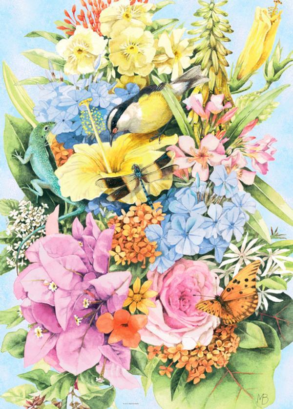 Bastin, Lizard Flowers Jigsaw Puzzle