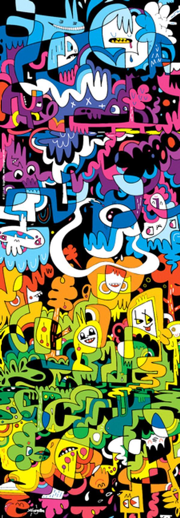 Doodle World Cartoons Jigsaw Puzzle