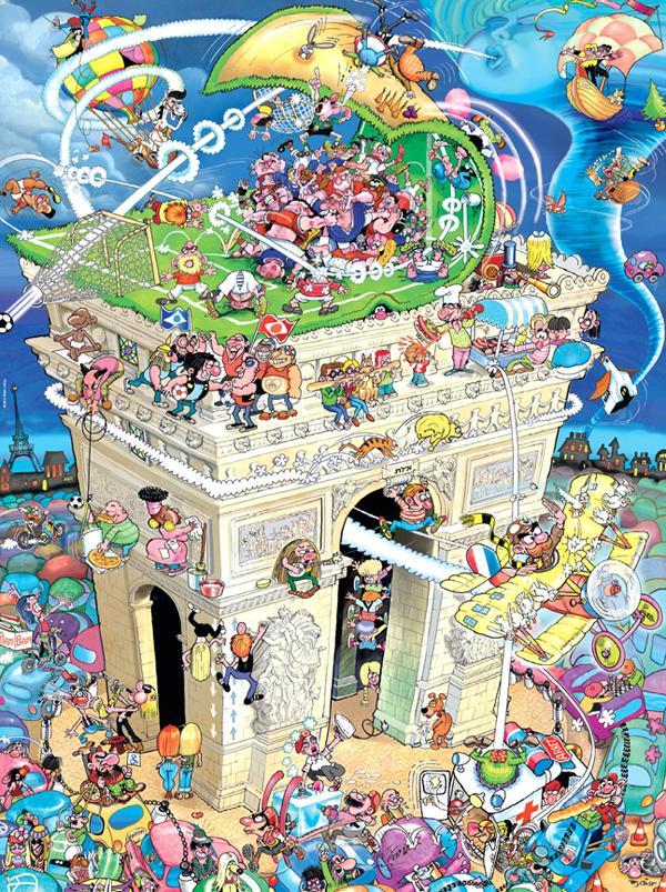 Crisp, Arc de Triomphe Cartoons Jigsaw Puzzle