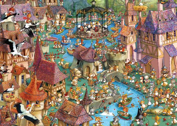 Bunnytown Cartoons Jigsaw Puzzle