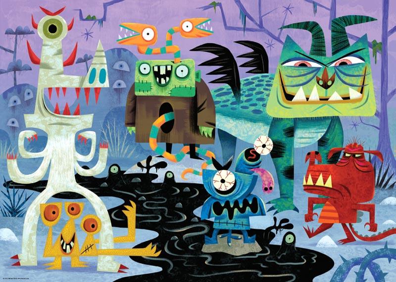 Slack, Monsterland Cartoons Jigsaw Puzzle