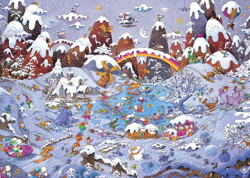 Mordillo, Winterland Cartoons Jigsaw Puzzle