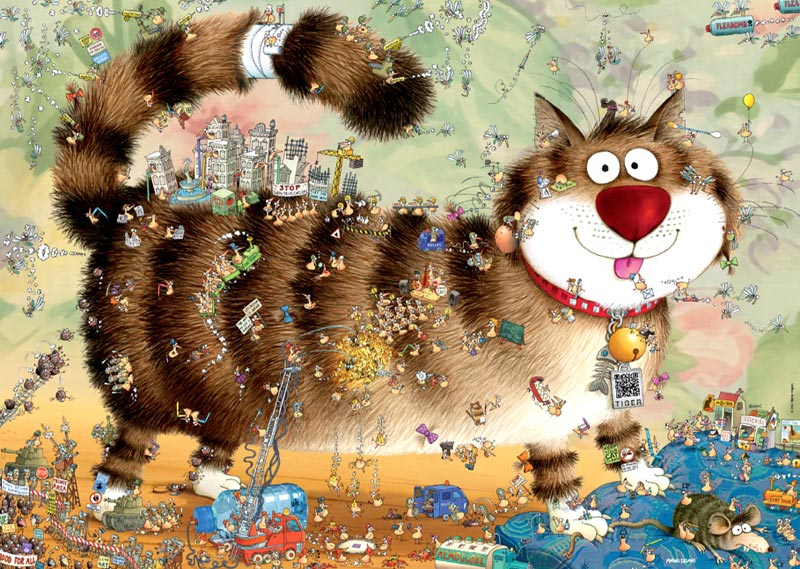 Cat's Life - Scratch and Dent Cats Jigsaw Puzzle