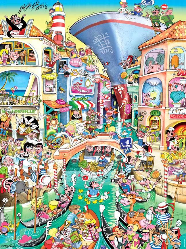 Crisp, Venice Cartoons Jigsaw Puzzle