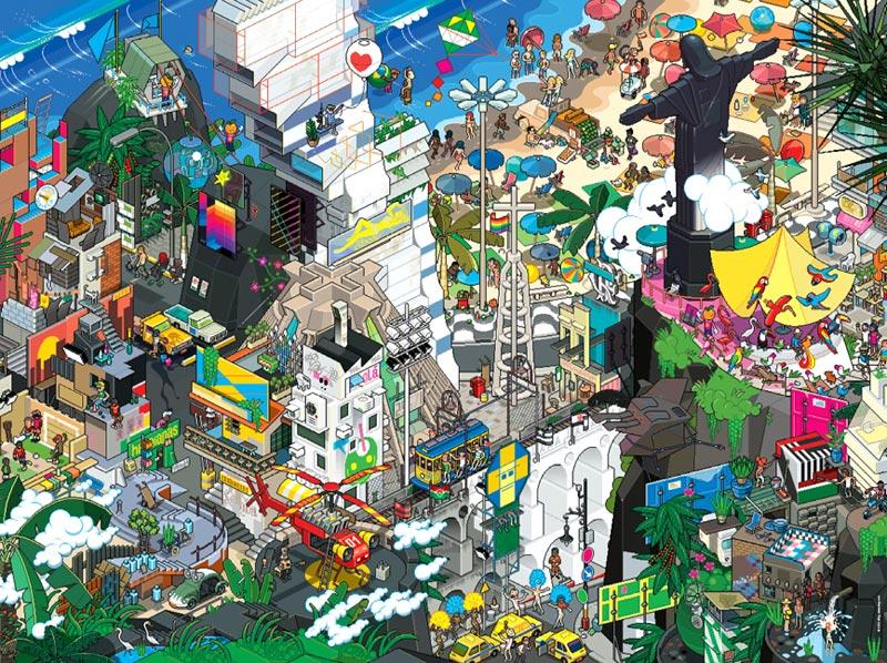 Rio Cartoons Jigsaw Puzzle