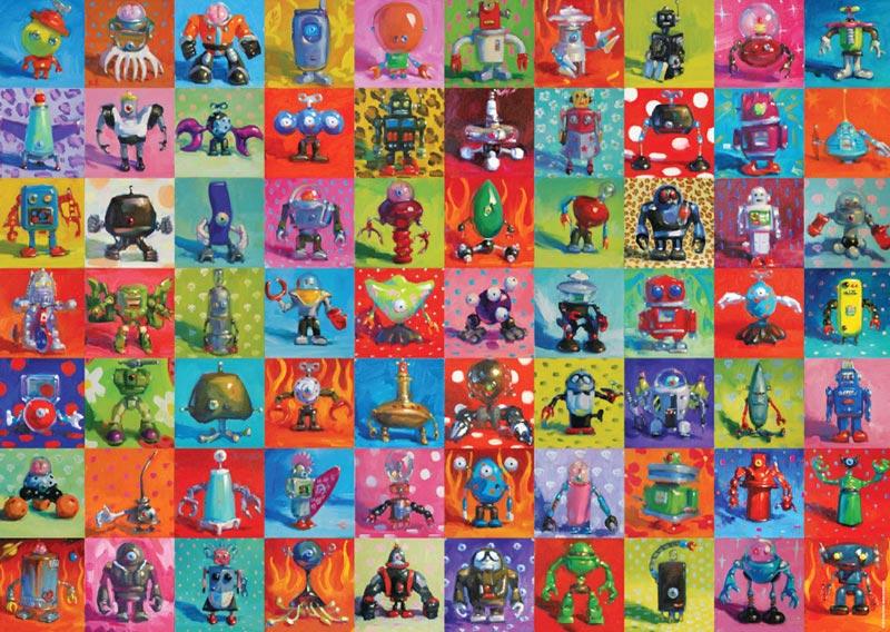 Stinson, Robots Cartoons Jigsaw Puzzle