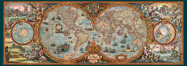Hemisphere map jigsaw puzzle puzzlewarehouse hemisphere map maps geography jigsaw puzzle gumiabroncs Images