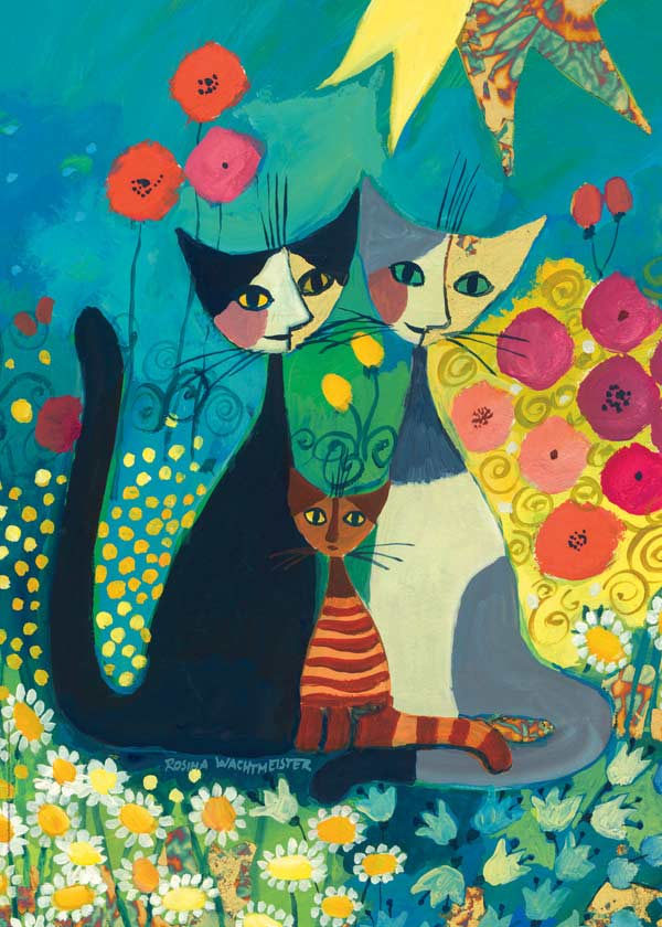 Flowerbed Cats Jigsaw Puzzle