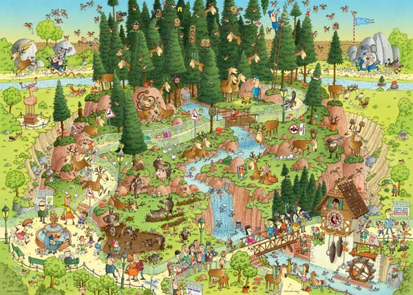 Black Forest Habitat Animals Jigsaw Puzzle