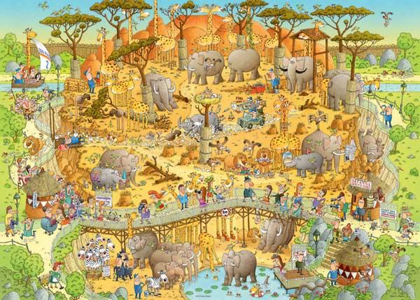 African Habitat Jungle Animals Jigsaw Puzzle