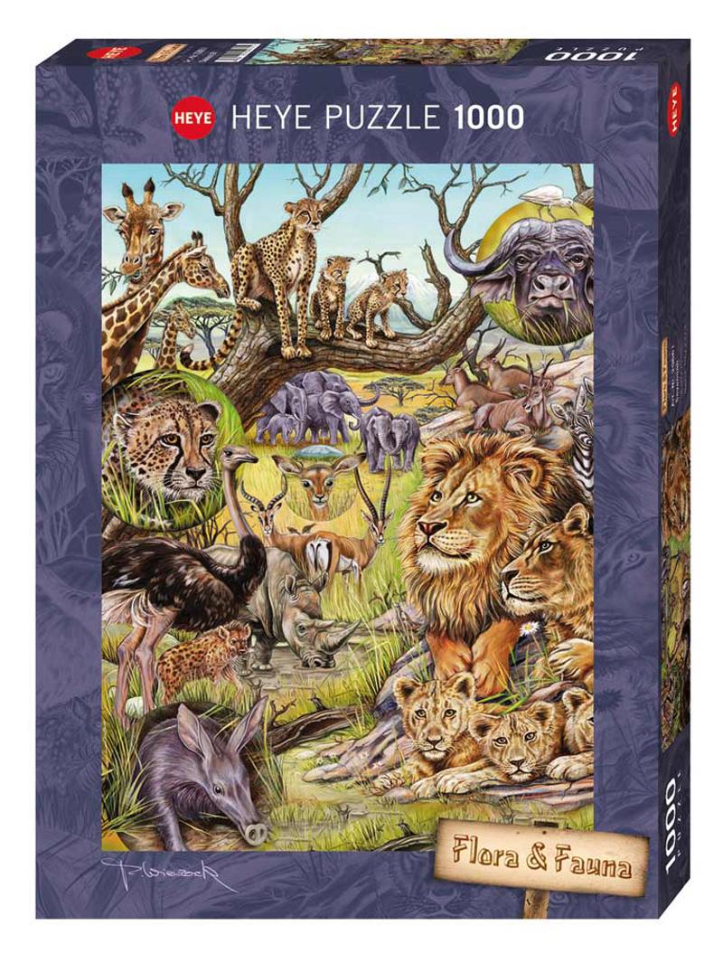 Savannah (Flora & Fauna) Cats Jigsaw Puzzle