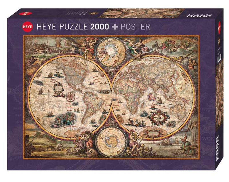 Vintage World Jigsaw Puzzle PuzzleWarehousecom - Retro world map poster