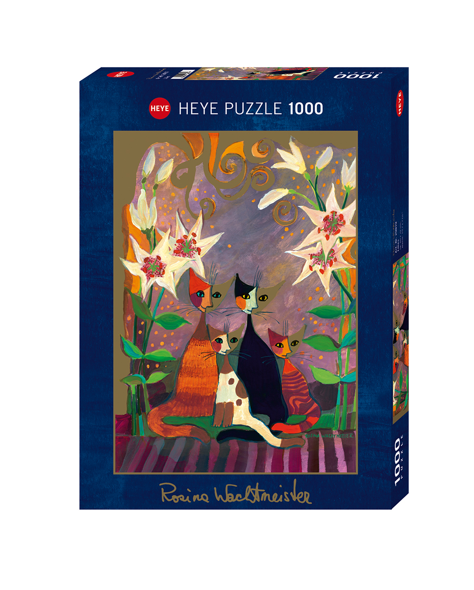 Lilies Cats Jigsaw Puzzle
