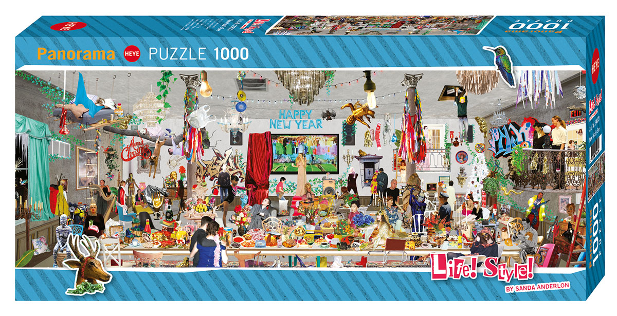 New Year's Eve Collage Jigsaw Puzzle