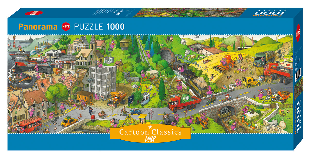Busy Day, Loup Cartoons Jigsaw Puzzle