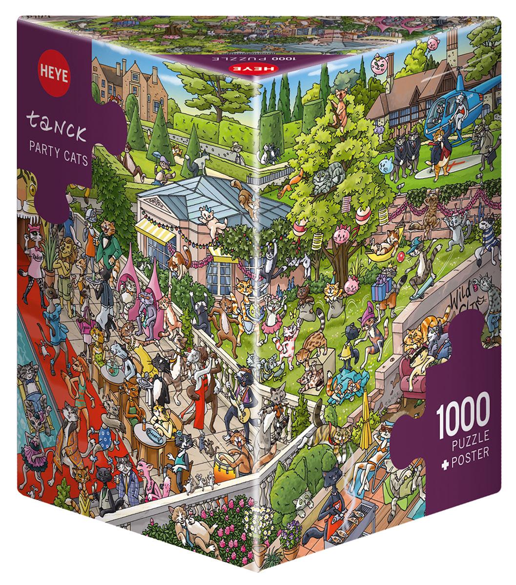 Party Cats, Tanck Cartoons Jigsaw Puzzle