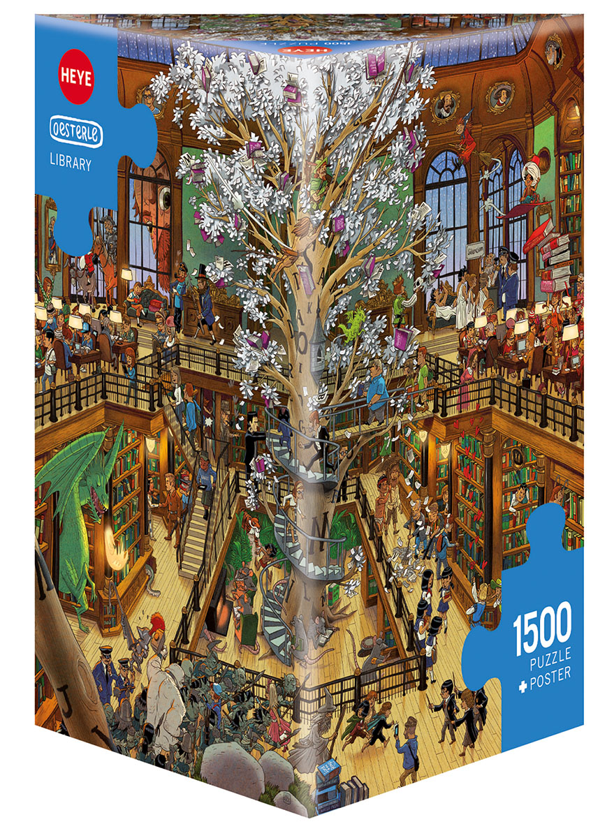 Library Cartoons Jigsaw Puzzle