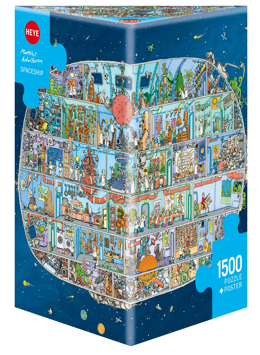 Spaceship, Adolfsson Cartoons Jigsaw Puzzle