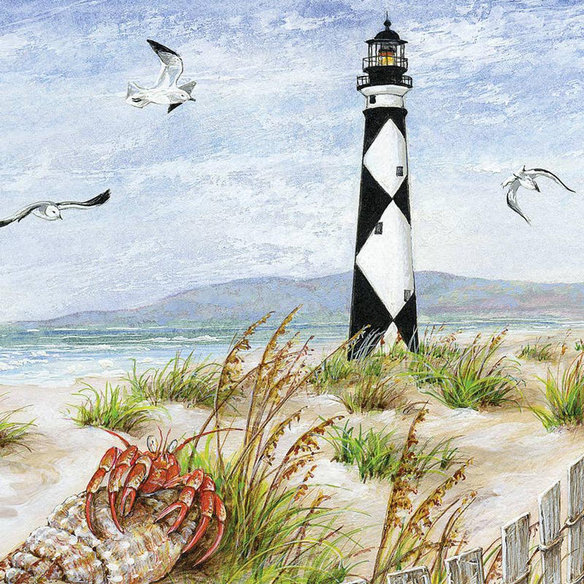Lighthouse on the Dunes Beach Jigsaw Puzzle