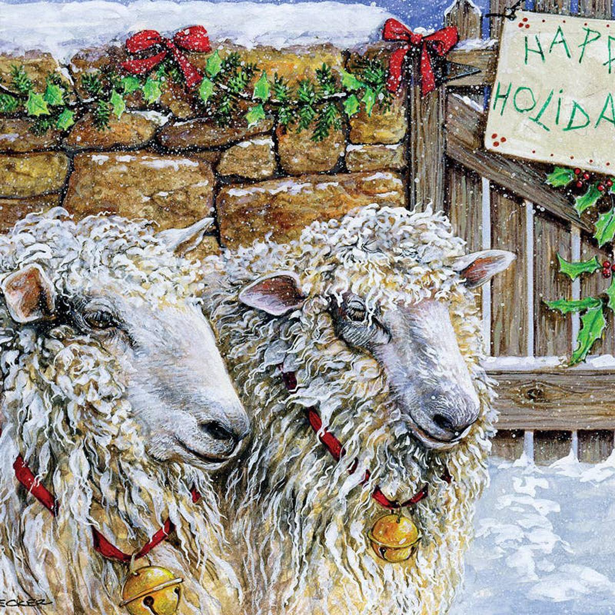Sheep at the Gate Farm Jigsaw Puzzle