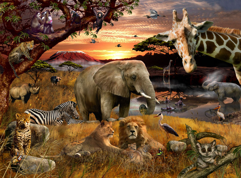 Animal Planet - Safari Friends Other Animals Jigsaw Puzzle