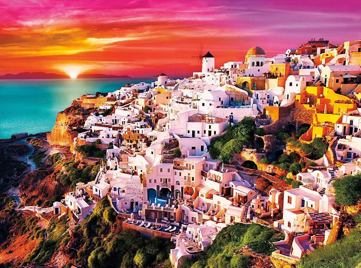 Dreamy Santorini Greece Jigsaw Puzzle