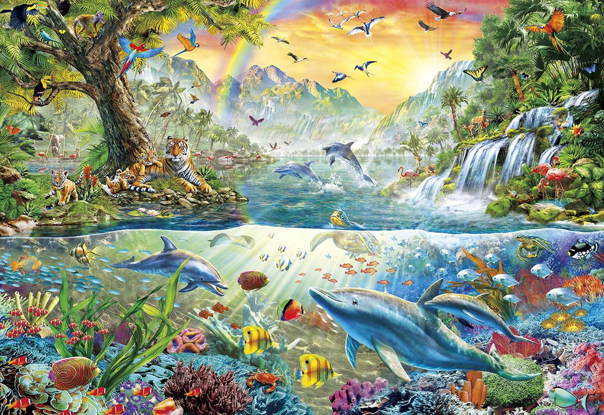 Tropical Harmony Jungle Animals Jigsaw Puzzle