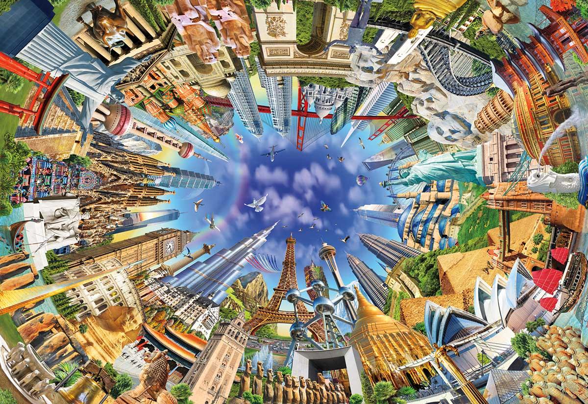 World Landmarks 360 Travel Jigsaw Puzzle