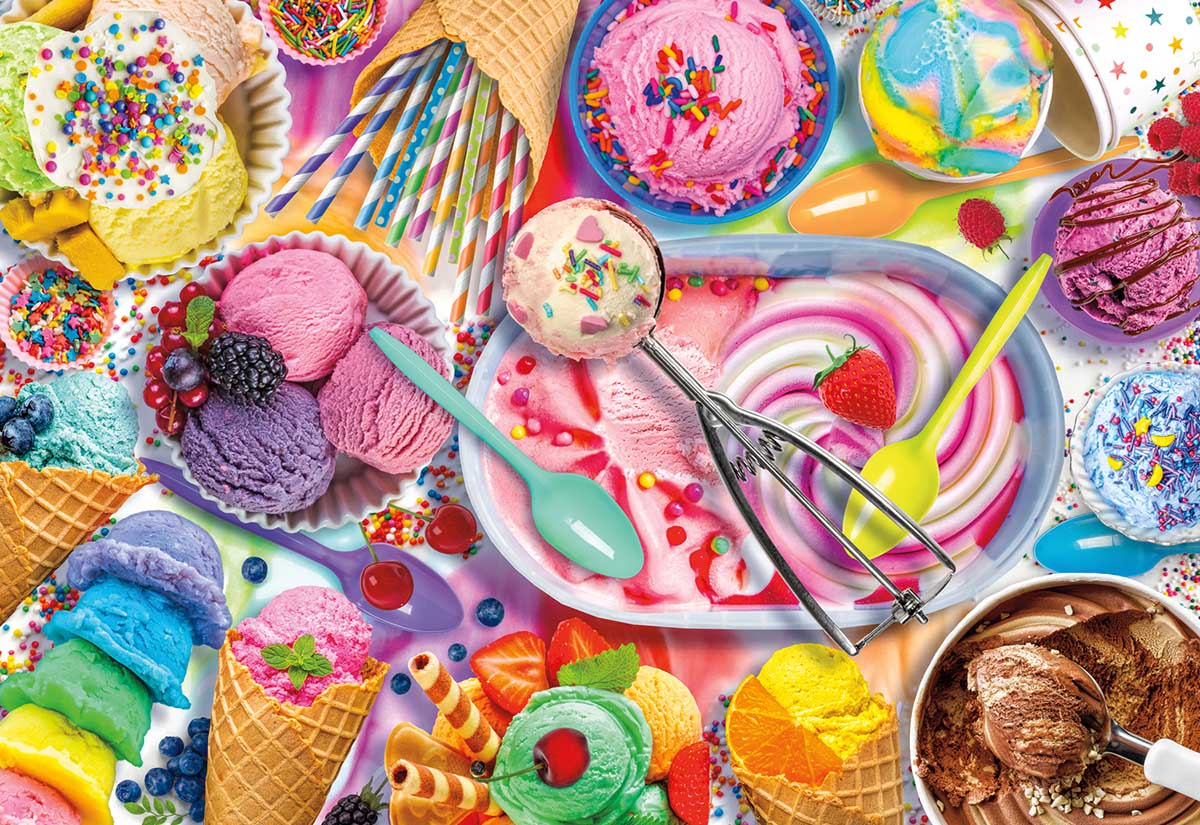 Ice Cream Social Food and Drink Jigsaw Puzzle