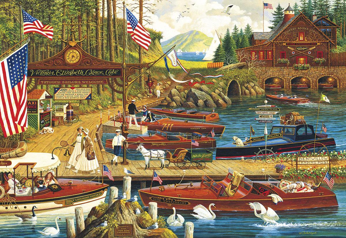 Lost in the Woodies Americana & Folk Art Jigsaw Puzzle