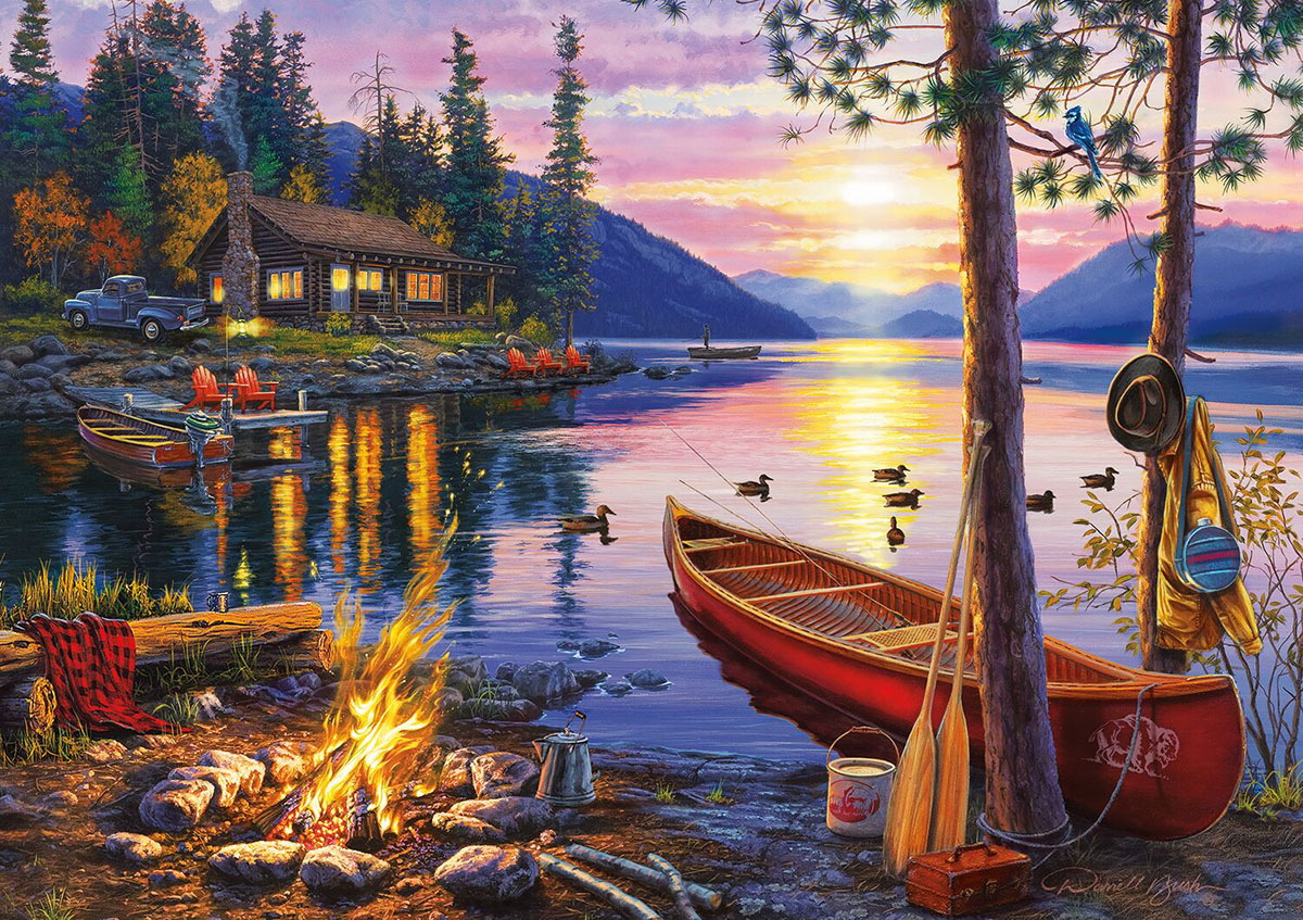 Canoe Lake - Scratch and Dent Lakes / Rivers / Streams Jigsaw Puzzle