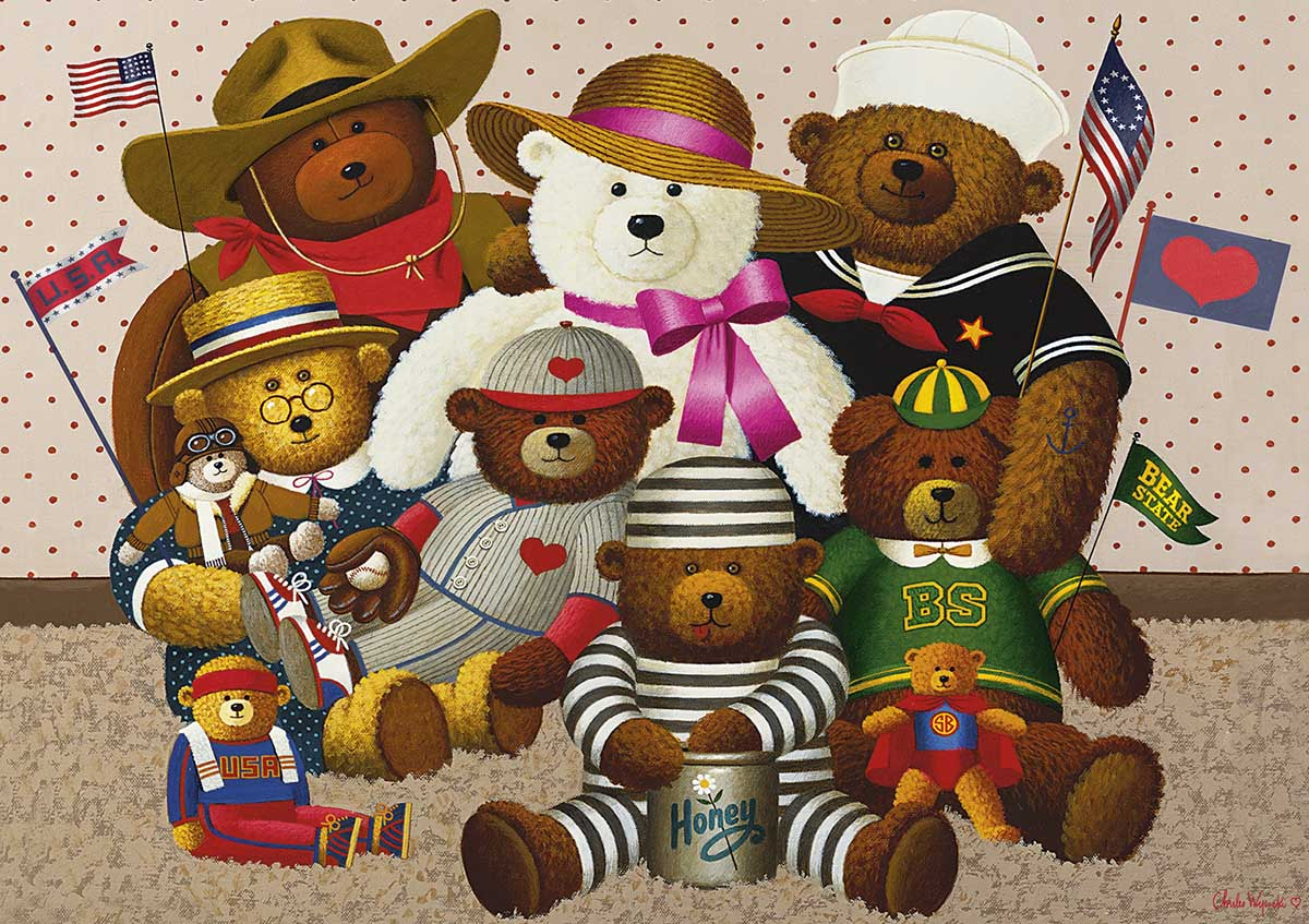 Teddy Friends Bears Jigsaw Puzzle