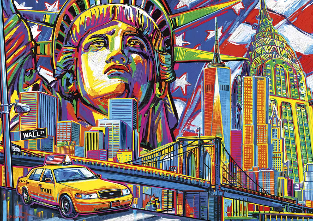 New York Color Travel Jigsaw Puzzle