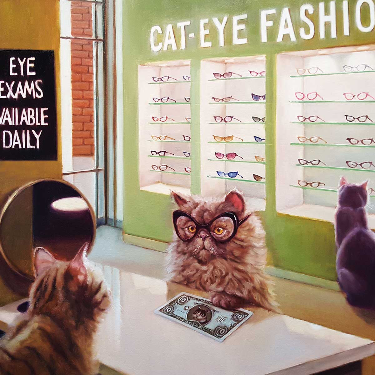 Eye Exam Cats Jigsaw Puzzle