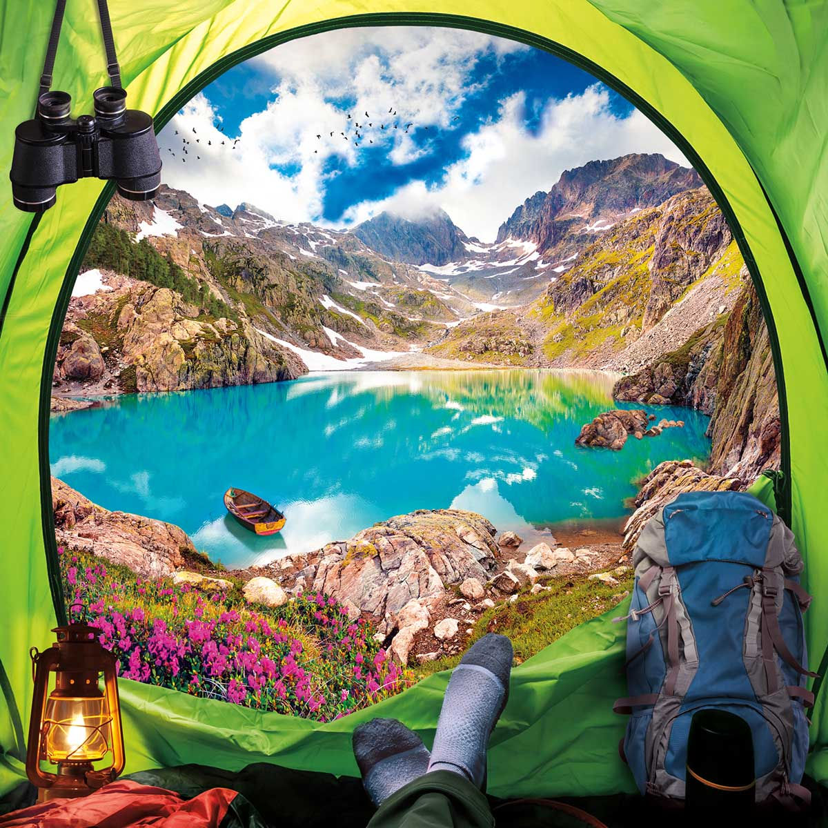 What A View Mountains Jigsaw Puzzle