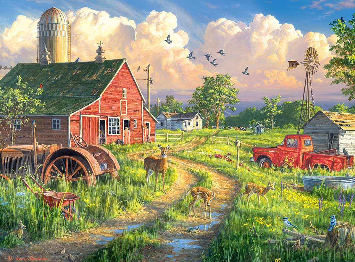New Life at the Old Farm Animals Jigsaw Puzzle