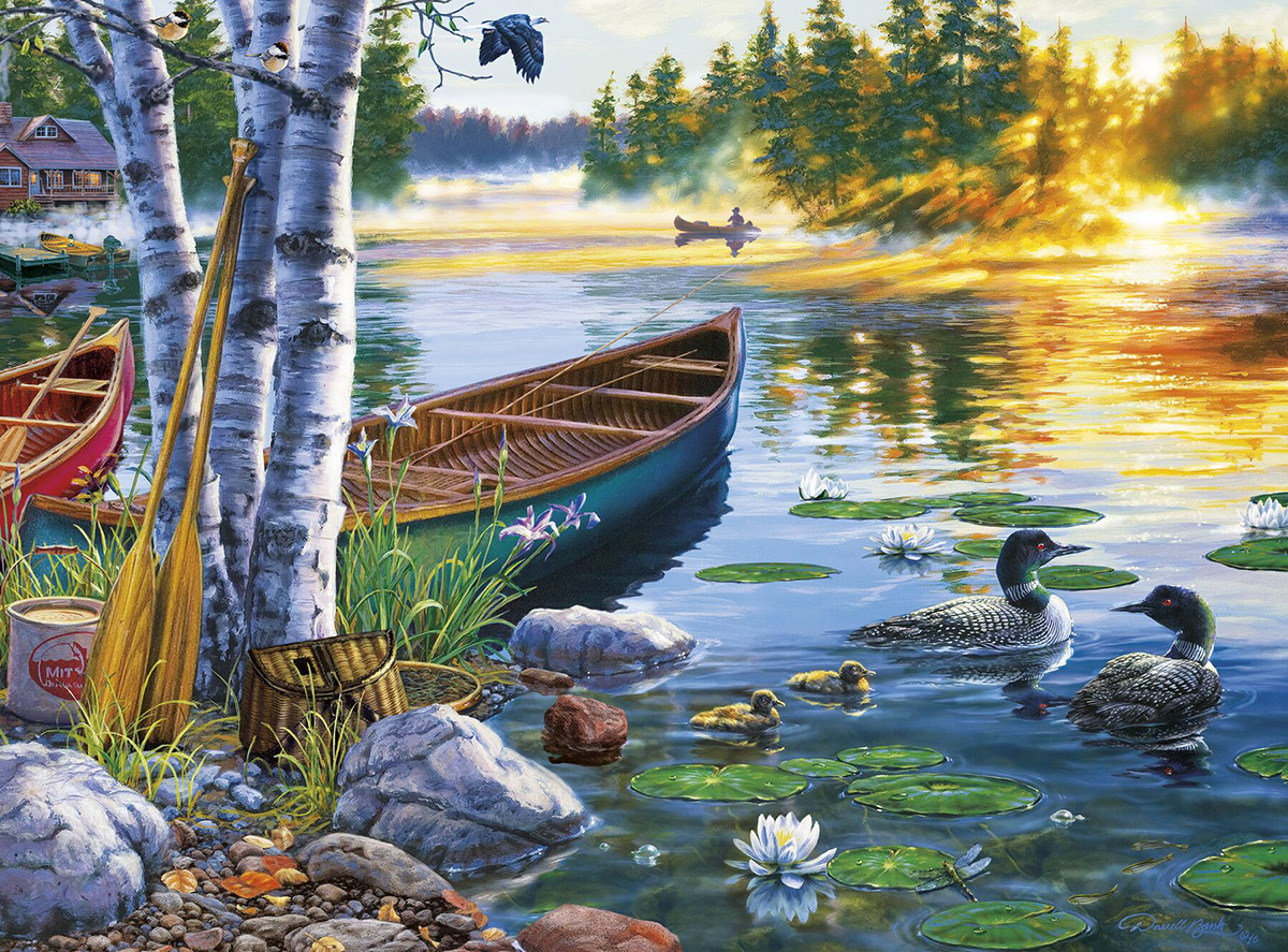 Lakeside Morning Jigsaw Puzzle Puzzlewarehouse Com