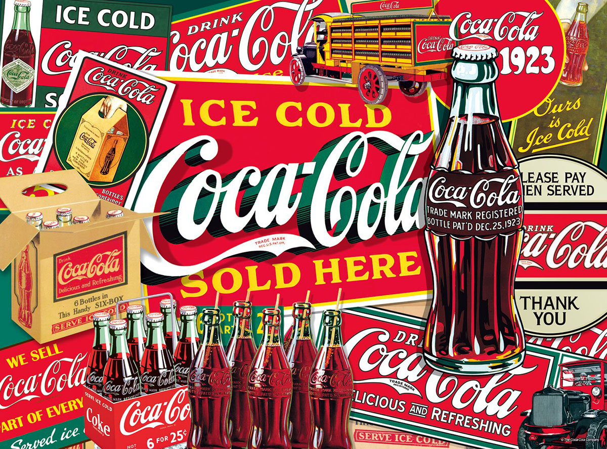 Ice Cold Coca-Cola - Scratch and Dent Nostalgic / Retro Jigsaw Puzzle