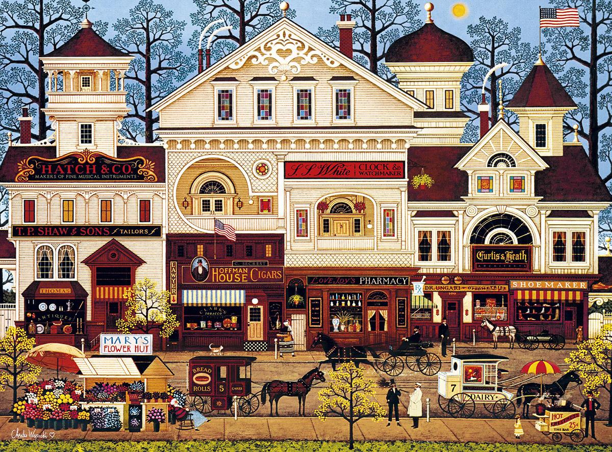 Victorian Street Americana & Folk Art Jigsaw Puzzle