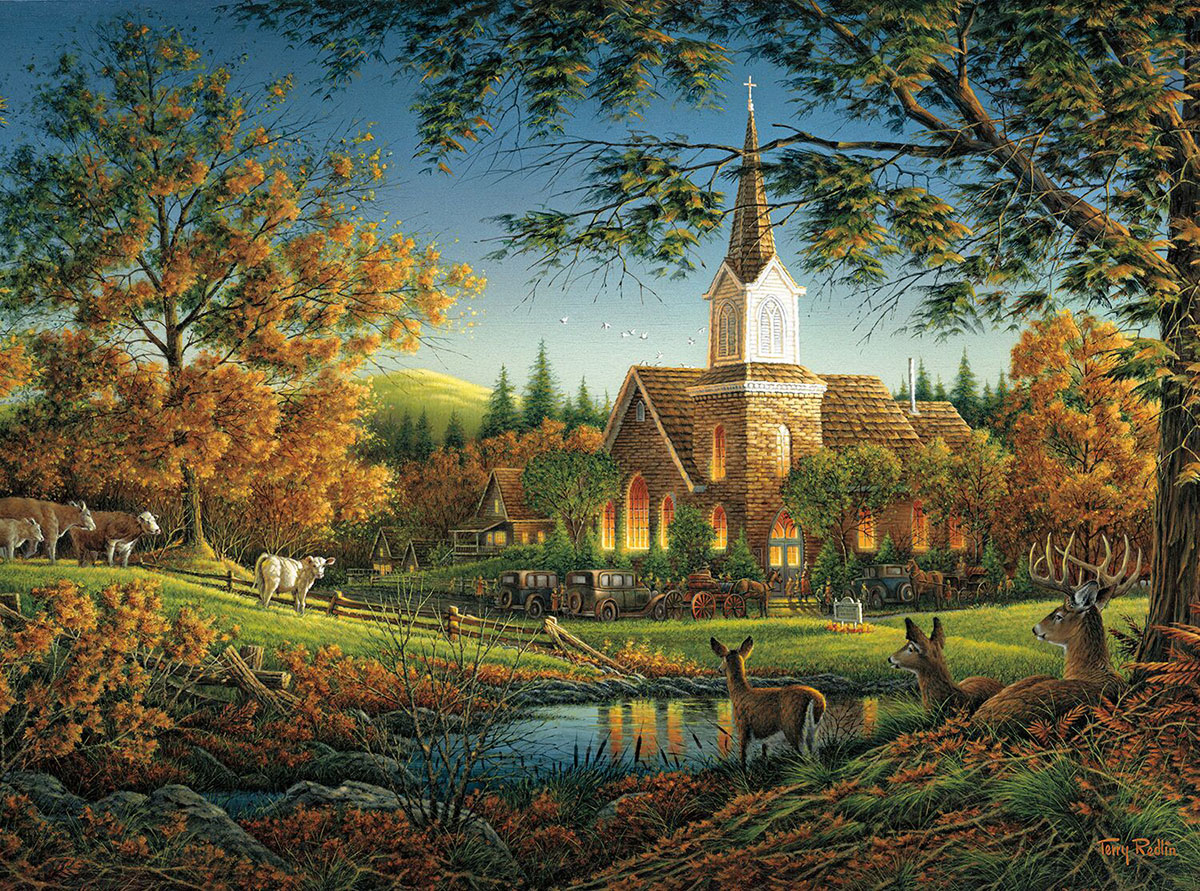 Sunday Morning Churches Jigsaw Puzzle