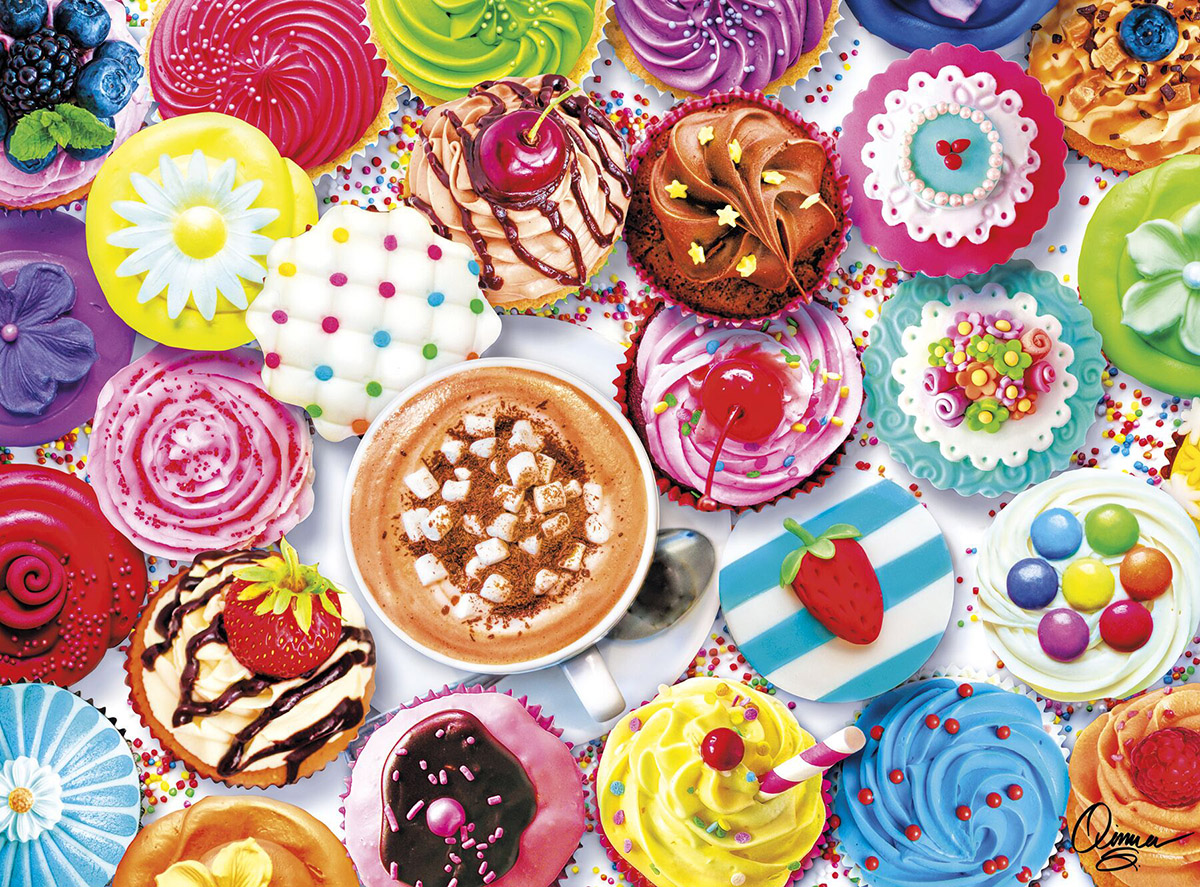 Cupcakes & Cocoa - Scratch and Dent Sweets Jigsaw Puzzle