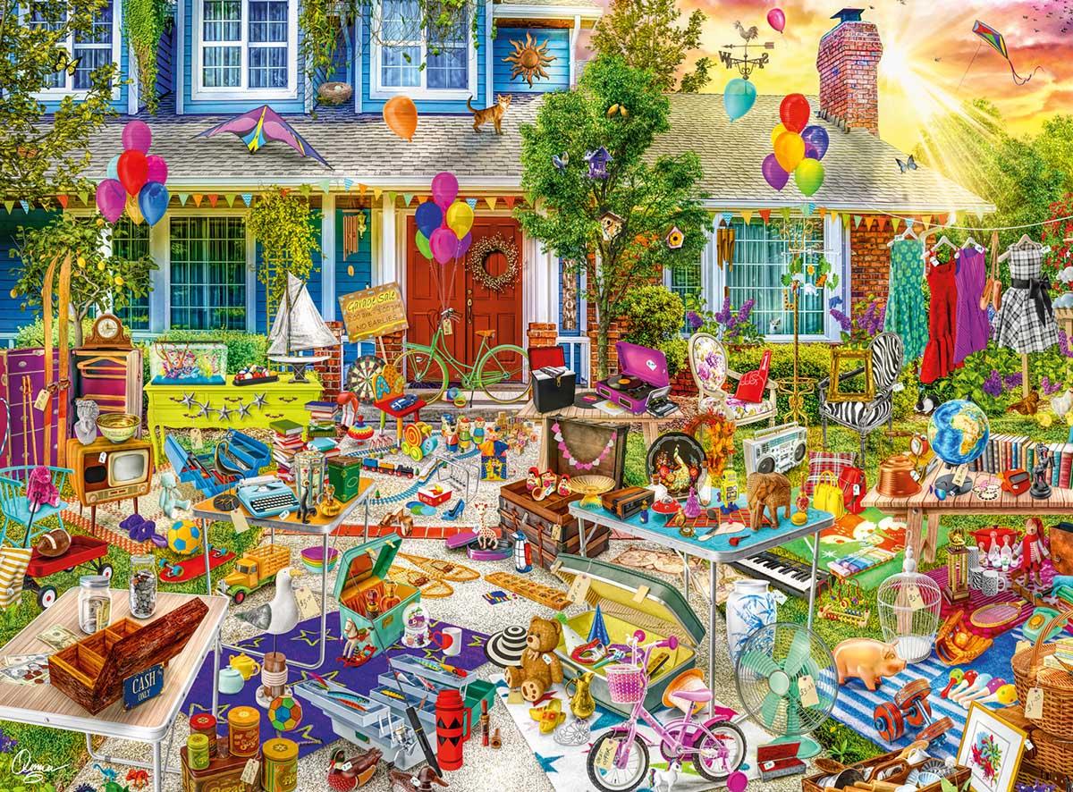 Yard Sale Nostalgic / Retro Jigsaw Puzzle