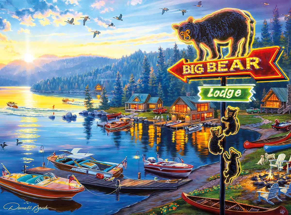 Big Bear Lodge Countryside Jigsaw Puzzle