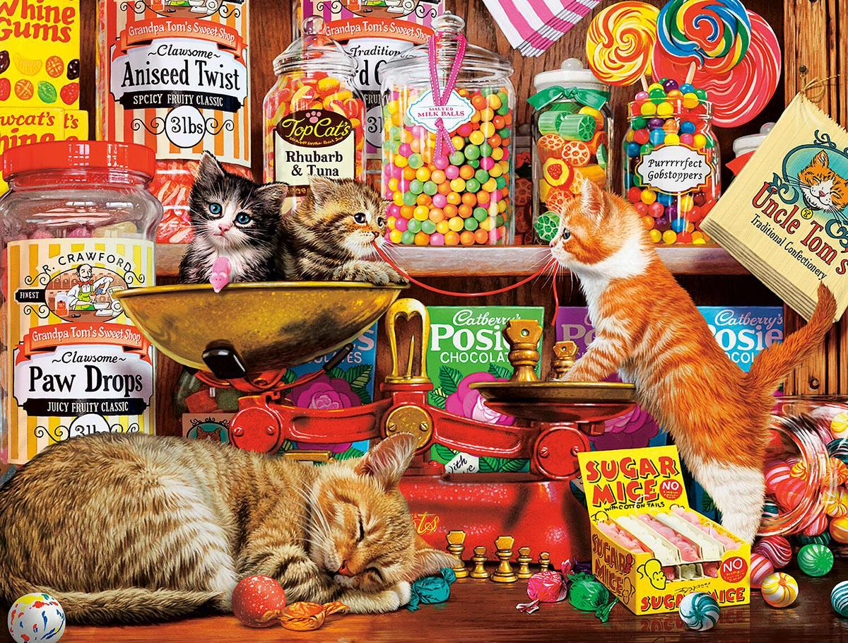 Sweet Shop Kittens Cats Jigsaw Puzzle