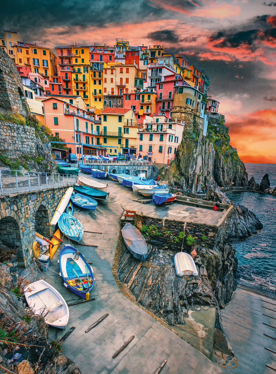 Blanc Series: Cinque Terre Skies Italy Jigsaw Puzzle