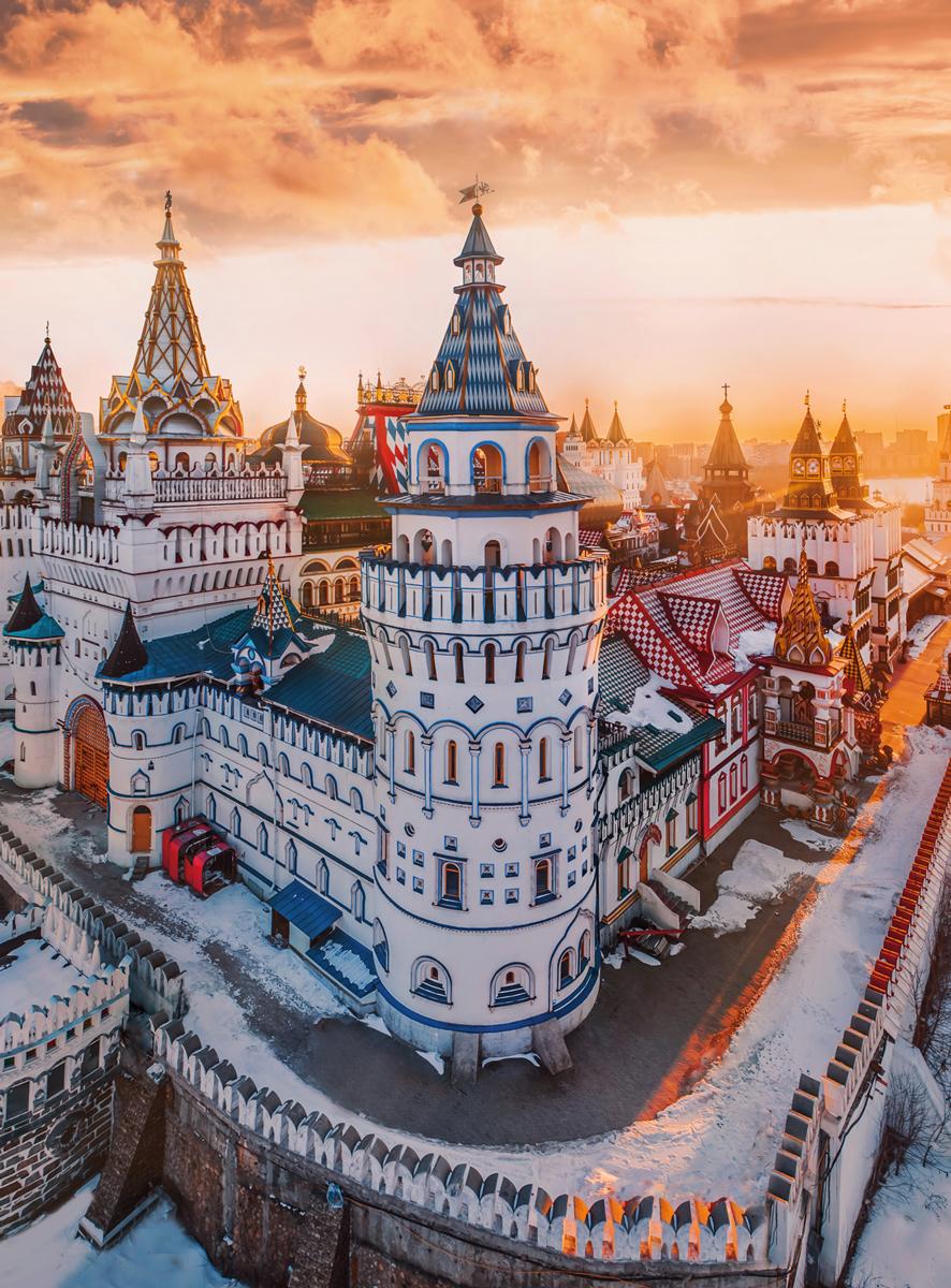 Blanc Series: Izmailovo Kremlin, Moscow Russia Russia Jigsaw Puzzle