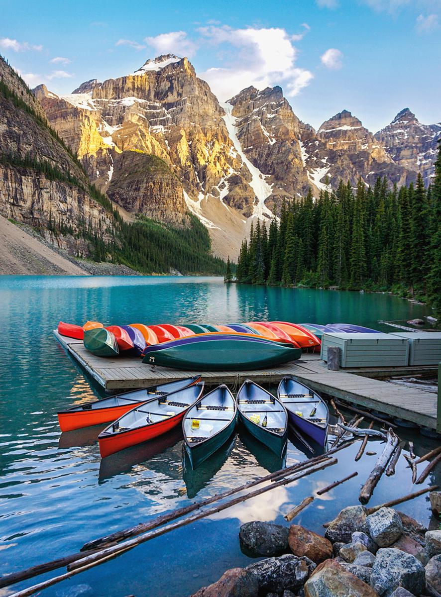 Blanc Series: Lake Moraine Boats Jigsaw Puzzle