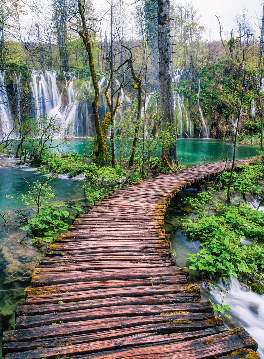 Croation Pathways Waterfalls Jigsaw Puzzle